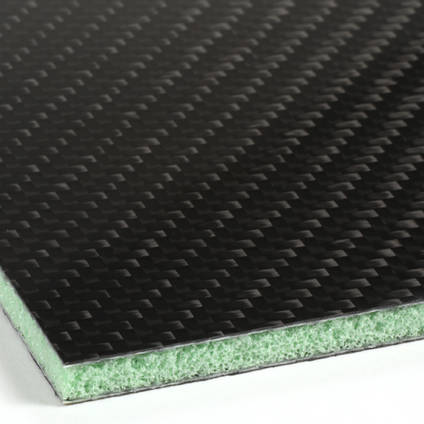 Foam Cored Carbon Fibre Panel Core Closeup