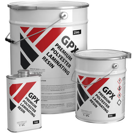 High Quality GP Polyester Laminating Resin - Range of Pack Sizes