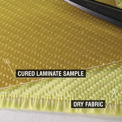 300g 2x2 Twill Weave Kevlar Cured Laminate Sample