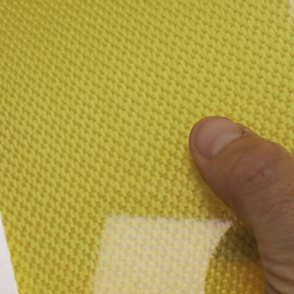 175g Satin Weave Kevlar Cloth Cured Laminate Sample