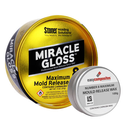 Miracle Gloss Mould Release Wax - Range of Pack Sizes