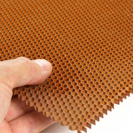 4.8mm Cell 48kg Nomex Honeycomb in Hand