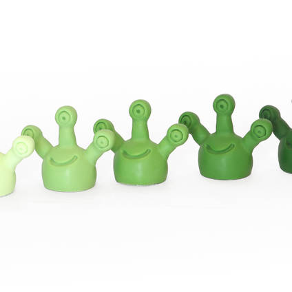 Green Translucent Tinting Pigment was used at varying percentages to create a range of different shades.