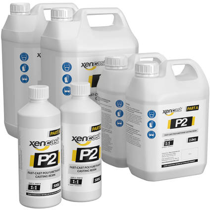 Xencast P2 Fast Cast Polyurethane Casting Resin - Range of Pack Sizes