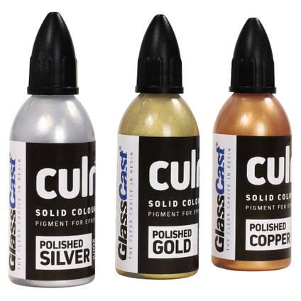 CULR Epoxy Pigment - Metallic Colour Starter Set (3x20ml)