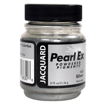 Silver (#663)Pearl Ex Powdered Pigment 21g