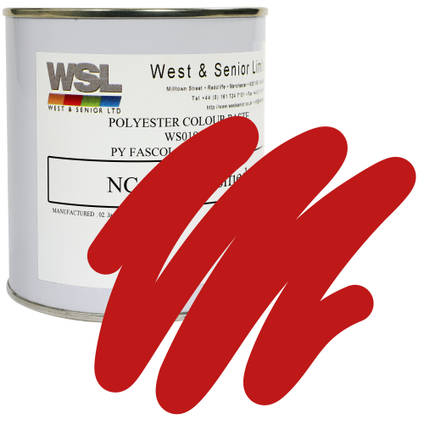 Signal Red Polyester Pigment 500g