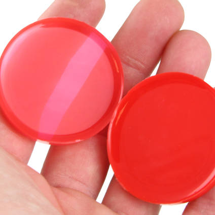 Silicone pigmented at varying percentages to achieve both a translucent and solid effect