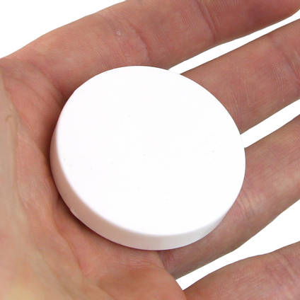 White Pigmented Silicone Disc