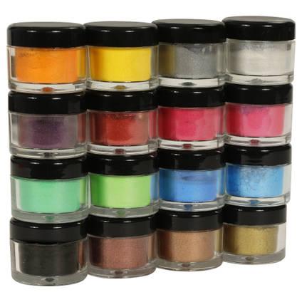 SHIMR Metallic Resin Pigment - Set of 16 x 3g