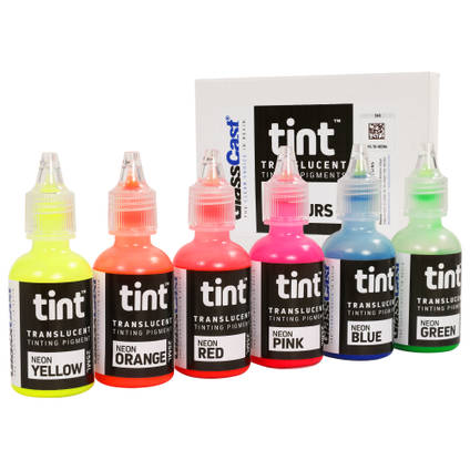 Set of 6 Neon Translucent Tinting Pigments