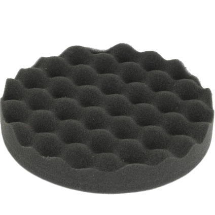 Soft Wavy Black Polishing Pad 150mm