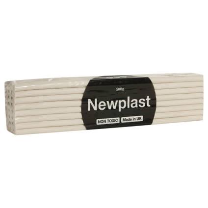 Newplast Plasticine 500g White