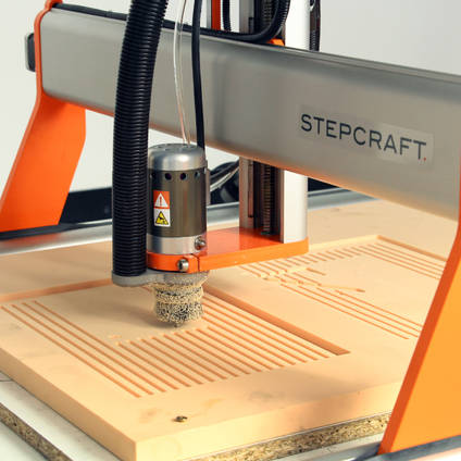Machining PU240 Model Board on a Stepcraft CNC Router