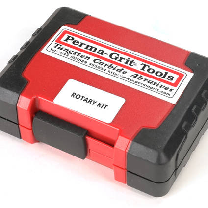 Perma-Grit Rotary Tools in Closed Case