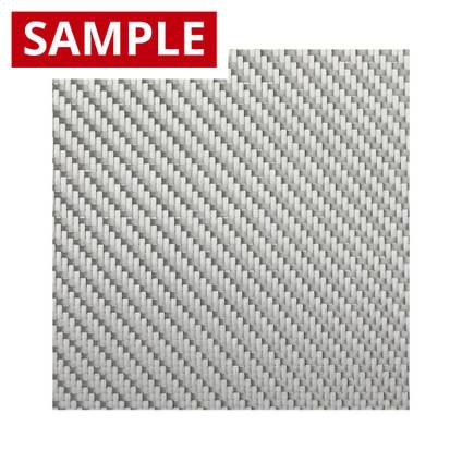 290g 2x2 Twill Alufibre Silver Glass - SAMPLE