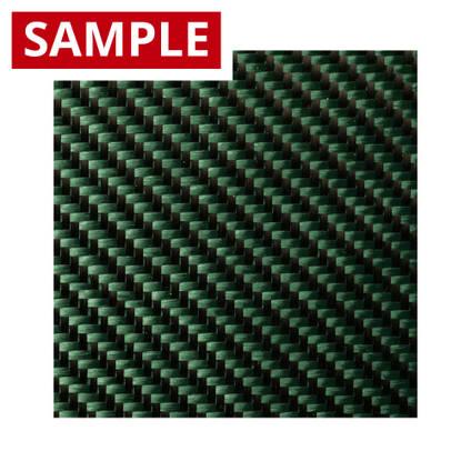 210g 2x2 Twill 3k Carbon Fibre Green - SAMPLE