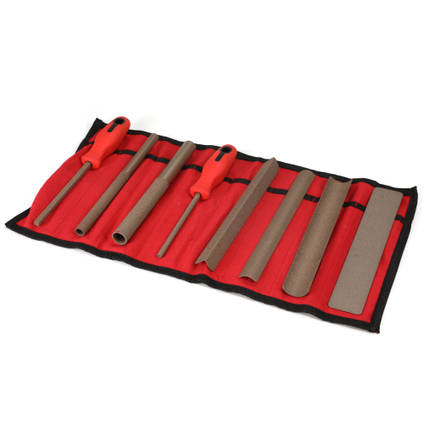 Perma-Grit Set of 8 Hand Tools in a Wallet Fine
