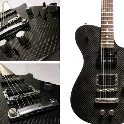 Carbon Fibre Skinned Electric Guitar