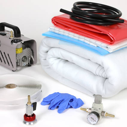 Vacuum Bagging Starter Kit Shown with Optional Vacuum Pump and Regulator