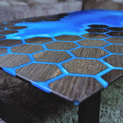 Bog Oak and Honeycomb Table by Special Works