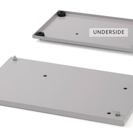 Baseplate for EC20-1 Vacuum Pump - Plate Shown from Top and Bottom