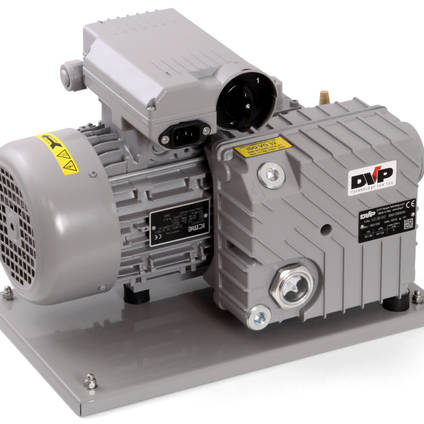 Baseplate for EC20-1 Vacuum Pump - Shown with Pump Fitted
