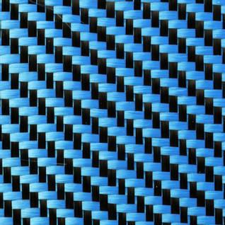 210g Blue 2x2 Twill 3k Carbon Fibre Cloth (1000mm) Thumbnail