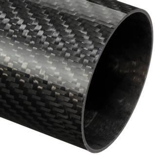 60mm (57mm) Woven Finish Roll Wrapped Carbon Fibre Tube Thumbnail