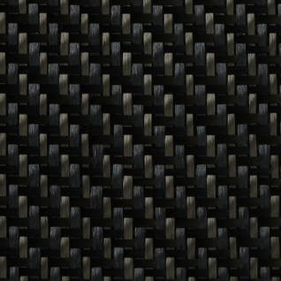200g 2x2 Twill Carbon Black Twaron Cloth (1000mm) Thumbnail