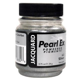 Silver (#663) Pearl Ex Powdered Pigment 21g Thumbnail