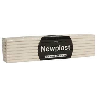 Newplast Plasticine 500g White Thumbnail