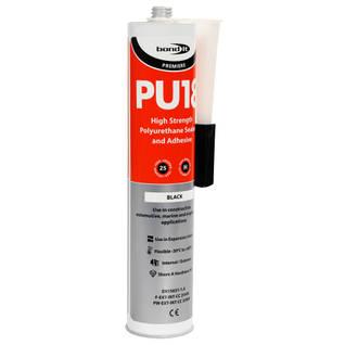 PU18 Black Flexible Polyurethane Adhesive 350ml Thumbnail