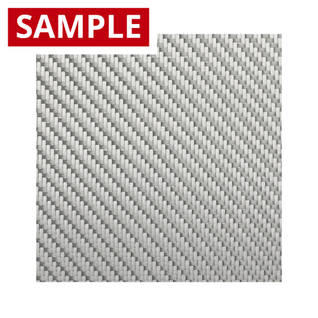 290g 2x2 Twill Alufibre Silver Glass - SAMPLE Thumbnail
