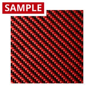 210g 2x2 Twill 3k Carbon Fibre Red - SAMPLE Thumbnail