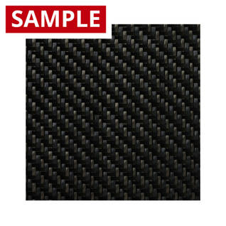 200g 2x2 Twill Carbon Black Twaron - SAMPLE Thumbnail