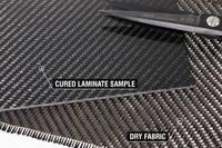 210g 2x2 Twill 3k Carbon Fibre Cloth Cured Laminate Sample Thumbnail