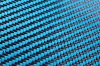 Blue Carbon FIbre Cloth 2/2 Twill Cured Laminate Sample Thumbnail