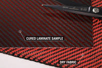Red Carbon Fibre Cloth 2x2 Twill Cured Laminate Sample Thumbnail