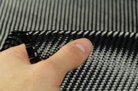 210g 2x2 Twill 3k Carbon Fibre Cloth In Hand Closeup Thumbnail