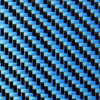 210g Blue 2x2 Twill 3k Carbon Fibre Cloth (1000mm) Thumbnail