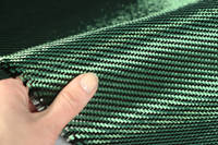 Green Carbon Fibre Cloth 2x2 Twill In Hand Thumbnail