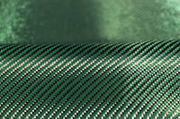 Green Carbon Fibre Cloth 2x2 Twill On Roll Abstract Thumbnail