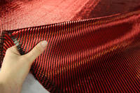Red Carbon Fibre Cloth 2x2 Twill In Hand Thumbnail