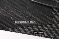 450g 2x2 Twill 12k Carbon Fibre Cloth Cured Laminate Sample Thumbnail