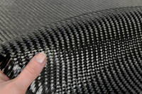 450g 2x2 Twill 12k Carbon Fibre Cloth In Hand Closeup Thumbnail