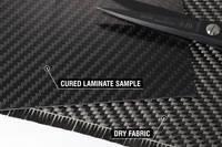 650g 2x2 Twill 12k Carbon Fibre Cloth Cured Laminate Sample Thumbnail