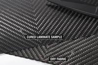 210g V-Weave 2x2 Twill 3k Carbon FIbre Cured Laminate Sample Thumbnail