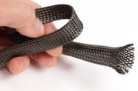5mm Braided Carbon Fibre Sleeve in Hand Thumbnail