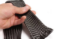 80mm Braided Carbon Fibre Sleeve in Hand Thumbnail